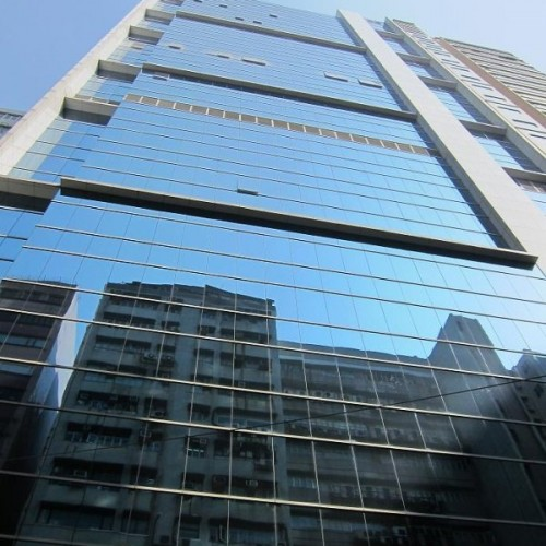 The facade of Futura Plaza. Located on How Ming St, Kwun Tong. 26-storey. (Futura Plaza)
