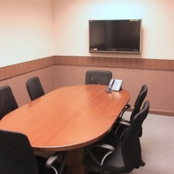 Conference room of business center. Modern design. Equipped with a TV. (Futura Plaza)