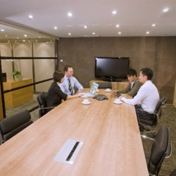 Conference room of business center. Equipped with teleconference facilities and a TV. (Silvercord Tower 2)