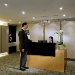 Reception of business center. Modern design. Central airconditioning. (Silvercord Tower 2)