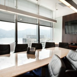 Conference room of business center. Awesome harbour view. Equipped with a TV and vide conference facilities. Central air-conditioning. (One Peking)