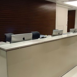 Reception of business center. Contemporary design. Central Air-Conditioning. (China Minmetals Tower )