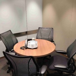 Another conference room of business center. Office furniture provided. Equipped with video conferencing facilities. (Champion Tower)