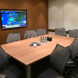 Conference room of business center. Functional layout. Equipped with teleconference facilities and a TV. Office furniture of high quality provided. (Champion Tower)