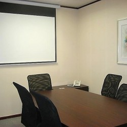 Conference room of business center. Modern design. Equipped with a projector. Office furniture of high quality provided. (Langham Plaza Office Tower)