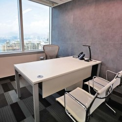 Room of the business center. Single workstation. Magnificent sea view. Contemporary design with superb office furniture. (Times Square Tower Two)