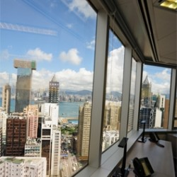 Splendid city view of Causeway Bay from the business center. Multiple workstations. (Times Square Tower Two)