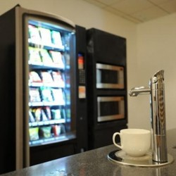 Electronic appliances: snack vending machine, microwave ovens and coffeemaker. (Millennium City 5 – BEA Tower)