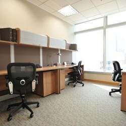 Another room of business center. Multiple workstation. Office furniture provided. Abundant natural light. Central Air-Conditioning. (Millennium City 5 – BEA Tower)