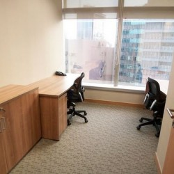 Office area of business center. Double workstations. Conventional. Abundant natural light. (Millennium City 5 – BEA Tower)