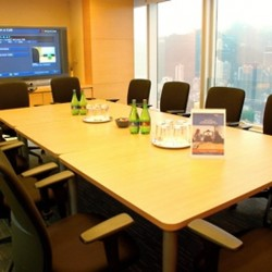 Another conference room of business center. City view of Hong Kong. Equipped with a monitor. Office furniture provided. (The Lee Gardens)