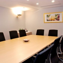 Conference room of business center. Trendy design with fine furniture. (Central Plaza)