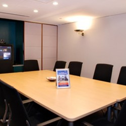 Conference room of business center. Equipped with video conference facilities and a TV. Office furniture of high quality provided. (Central Plaza)