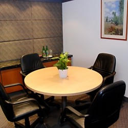 Conference room of business center. Trendy design with fine furniture. (Shui On Centre)