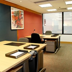 Office area of business center. Multiple workstations. Office furniture provided. Abundant natural light. (Shui On Centre)