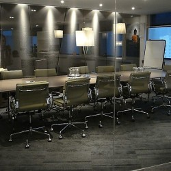 Conference room of business center. Chic and modern. Equipped with teleconference facilities and a TV. Office furniture of high quality provided. (Hopewell Centre)