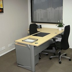 Room of business center. Single workstation. Office furniture provided. (Hopewell Centre)
