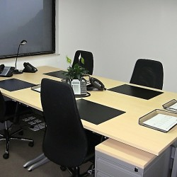 Office area of business center. Multiple workstations. Office furniture provided. (Hopewell Centre)