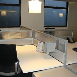 Layout of business center. Multiple workstations. Modern and efficient design. Office furniture provided. Central Air-Conditioning. (Hopewell Centre)