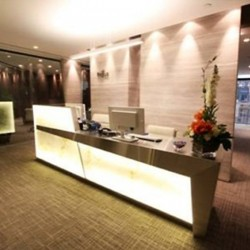 Reception along with lounge area. Chic and stylish. Central air-conditioning. Office furniture provided. (Miramar Tower)