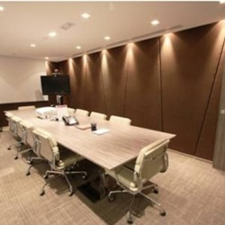 Conference room of business center. Elegant design. Equipped with teleconference facilities and a TV. Office furniture of high quality provided. (Miramar Tower)