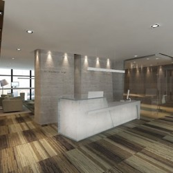 Reception of business center. Chic and contemporary design. Central Air-Conditioning. (Miramar Tower)