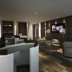 Another break-out area. Innovative design. Equipped with a TV and magazine stand. (Miramar Tower)