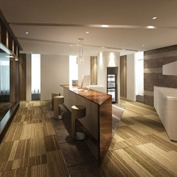 Contemporary break-out area. Superior office furniture. (Miramar Tower)