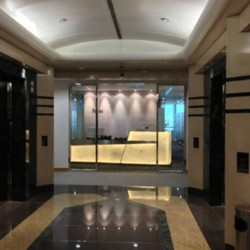 Entrance of business center. Glorious with pleasant design. (Entertainment Building)