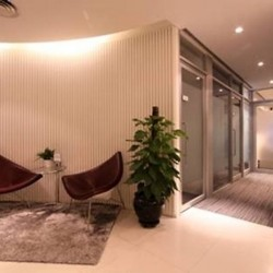 Lounge area. Modern design with prime office furniture. (Entertainment Building)