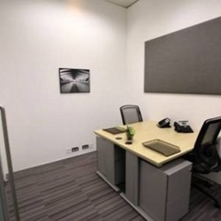Another room of business center. Double workstation. Office furniture provided. Central Air-Conditioning. (Entertainment Building)