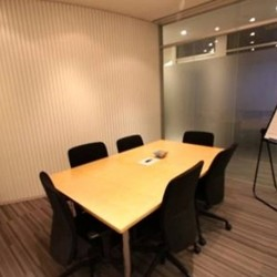 Another conference room of business center. Efficient layout. Equipped with a whiteboard. Office furniture provided. (Entertainment Building)
