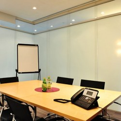 Conference room of business center. Functional layout. Equipped with teleconference facilities. Office furniture of high quality provided. (Entertainment Building)