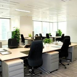 Efficient office layout of business center. Office furniture provided. Central air-conditioning. (One International Finance Centre)