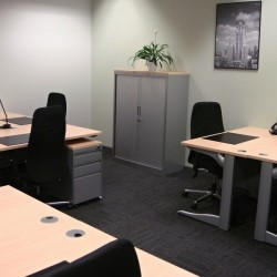 Another room of business center. Multiple workstation. Office furniture provided. (International Commerce Centre)