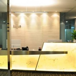 Reception of business center. Contemporary design. Central Air-Conditioning. Office furniture provided. (Dah Chong Hong Commercial Centre)