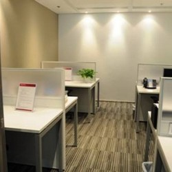 Room of business center. Multiple workstations. Office furniture provided. Broadband network. (Dah Chong Hong Commercial Centre)