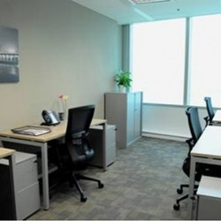 Office area of business center. Multiple workstations. Office furniture provided. Abundant natural light. (Dah Chong Hong Commercial Centre)