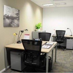 Room of business center. Multiple workstations. Modern design. Office furniture provided. (Dah Chong Hong Commercial Centre)
