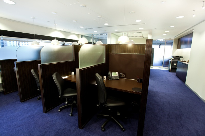 Office Area Of Business Center Multiple Workstations Furniture Provided Hong Kong