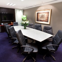 Conference room of business center. Functional layout. Equipped with a TV. Office furniture of high quality provided. (Hong Kong Club Building)