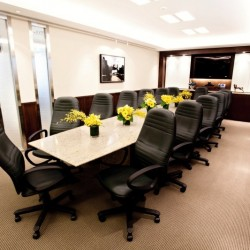 Conference room of business center. Efficientl layout. Equipped with a TV and whiteboard. Office furniture of high quality provided. (Two International Finance Centre)