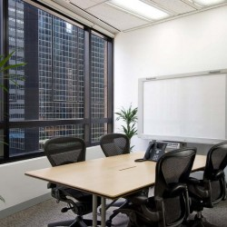 Conference room of business center. Equipped with teleconference facilities and a whiteboard. Office furniture of high quality provided. (Luk Kwok Centre)