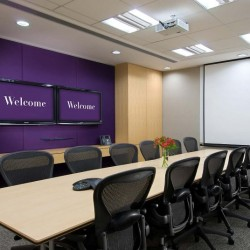 Another conference room of business center. Efficient layout. Equipped with a projector and two TVs. Office furniture provided. (Luk Kwok Centre)