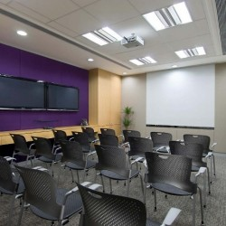 Spacious conference room of business center. Trendy and modern. Equipped with a projector and two TVs. Office furniture of high quality provided. (Luk Kwok Centre)