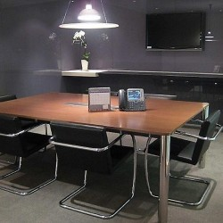 Another conference room of business center. Commodious and trendy. Equipped with teleconference facilities and a TV. The best office furniture provided. (Exchange Square Block Two)