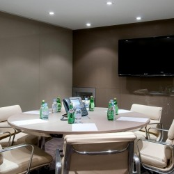 Conference room of business center. Functional layout. Equipped with video conferencing facilities, a TV and fridge. Office furniture of high quality provided. (Nexxus Building)