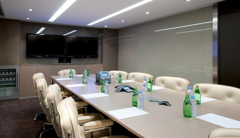 Office Conference Room Of Business Center Grand And Chic Equipped With Video Conferencing Facilities