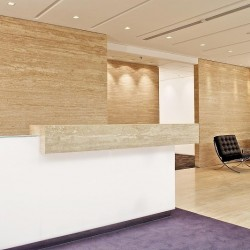 Reception of business center. Stylish design with furniture of good quality. Central Air-Conditioning. (Three Pacific Place)