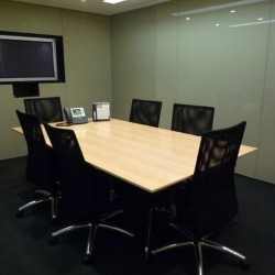 Conference room of business center. Functional layout. Equipped with a TV and teleconference facilities. Office furniture of high quality provided. (Wheelock House)